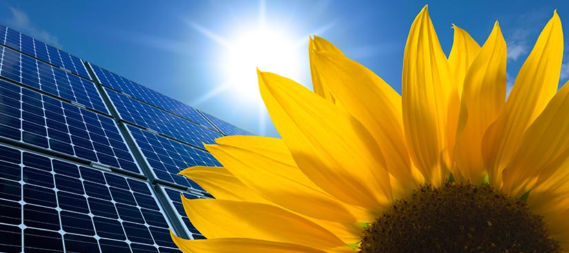 panneaux solaires à la Possession